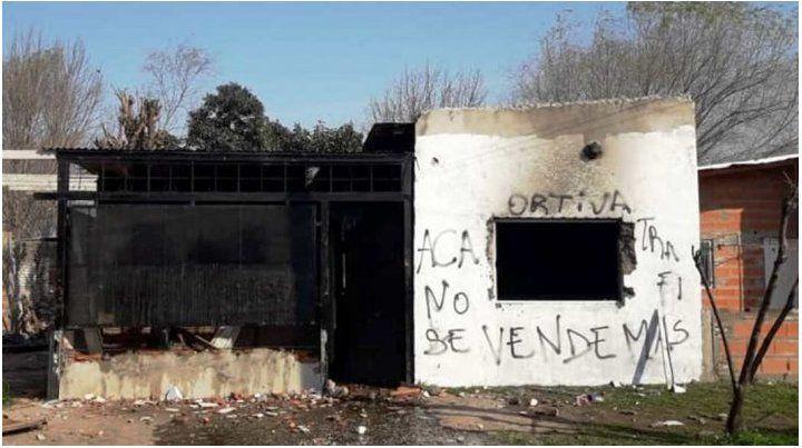 El quiosco de droga estaba ubicado en Juanario Luna al 1200