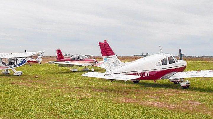 Emblemática. El Aeroclub funciona desde hace décadas en un amplio predio de la zona rural.
