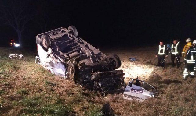 Un muerto al chocar un camión y un utilitario en la ruta 8, cerca de Santa Isabel
