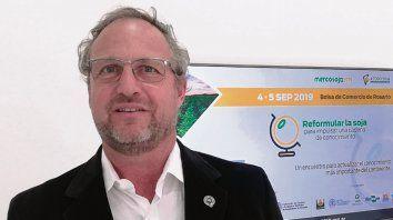 Referente. Martín Ambrogio, vicepresidente de Acsoja, durante la presentación.