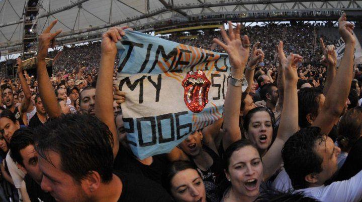 Fans de los Stones en el estadio Único de La Plata