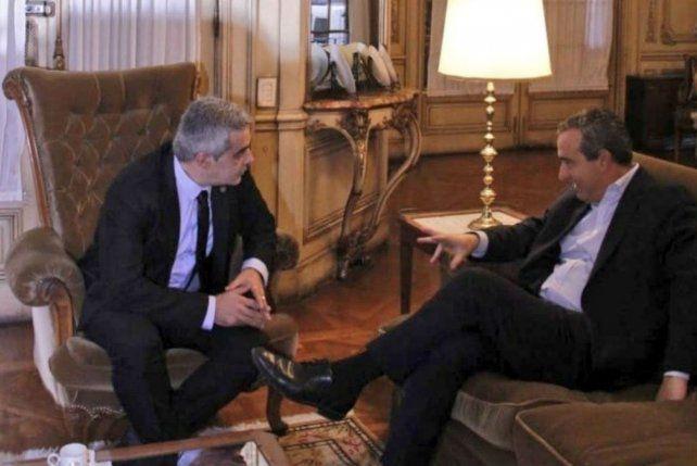 Diálogo. Bartolacci recibió al intendente electo y hablaron sobre los nuevos desafíos.