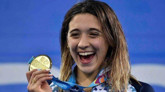Alegría juvenil. La bonaerense ahora es la máxima referente de la natación argentina