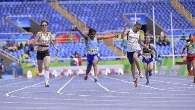 Meta. Yanina Martínez cuando ganó la medalla de oro en Río 2016.