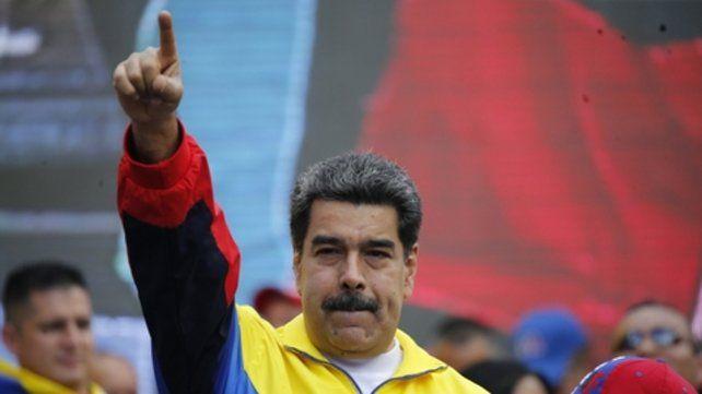 De frente. Durante un acto en las calles de Caracas el sábado pasado.