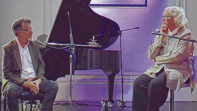 Un envío con historia. Fabio Rodríguez junto a Susana Tana Rinaldi en uno de los programas de Canal 3.