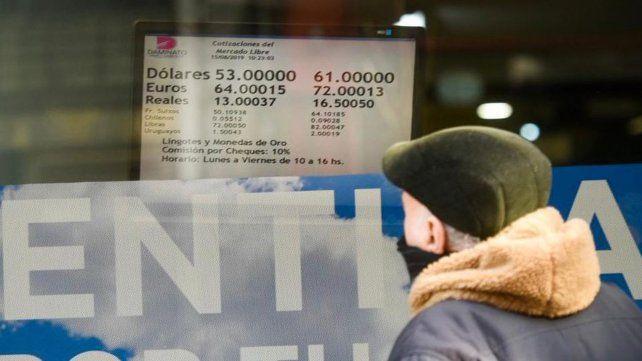 La cotización del dólar, con tendencia a la baja