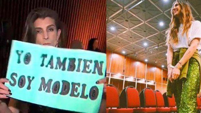 Una mujer trans irrumpió en el desfile de Micaela Tinelli