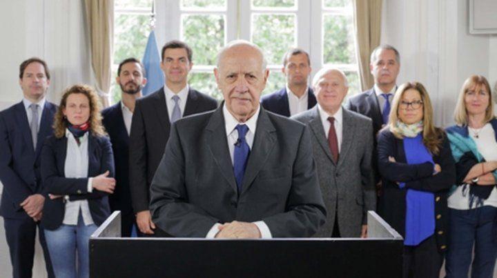 Mensaje y equipo. Lavagna reclamó al gobierno que renegocie de inmediato la deuda con el FMI.
