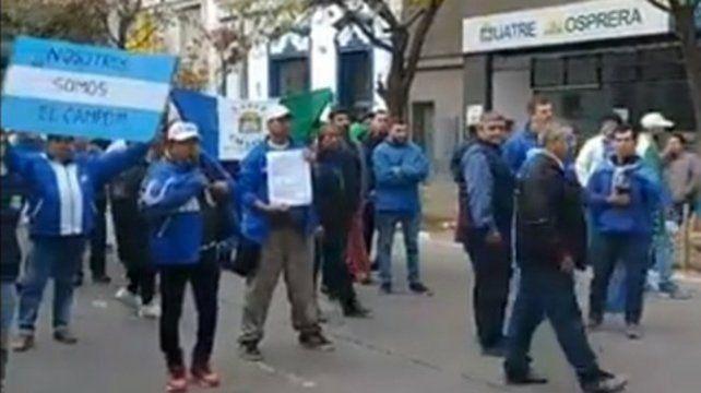 protesta. Los trabajadores