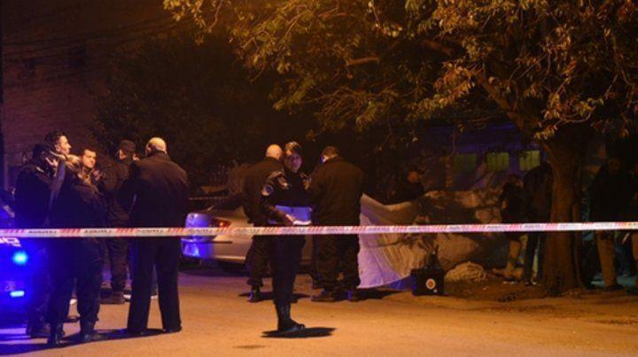 cafferata al 5300. Diego Caraballo fue asesinado ayer a las 18.30.