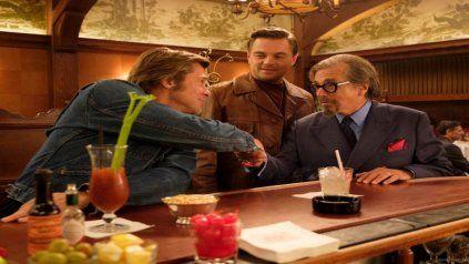 Brad Pitt, Leonardo DiCaprio y Al Pacino. Tarantino logró reunirlos en esta película que se desarrolla en el Hollywood de fines de los 60.