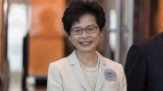 Carrie Lam, jefa administrativa de Hong Kong designada por China.