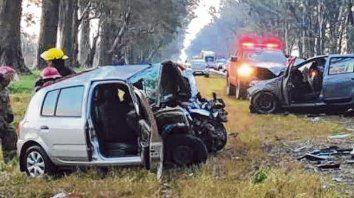 Rutas trágicas. El tremendo impacto ocurrió en el kilómetro 211 de la ruta nacional 8.