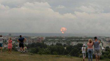 Severodvinsk, una ciudad a 40 km al este del campo de pruebas de Nyonoksa, junto al Mar Blanco.