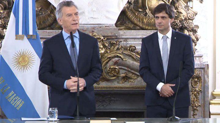 Macri le pidió a Lacunza que en cada decisión cuide a los argentinos