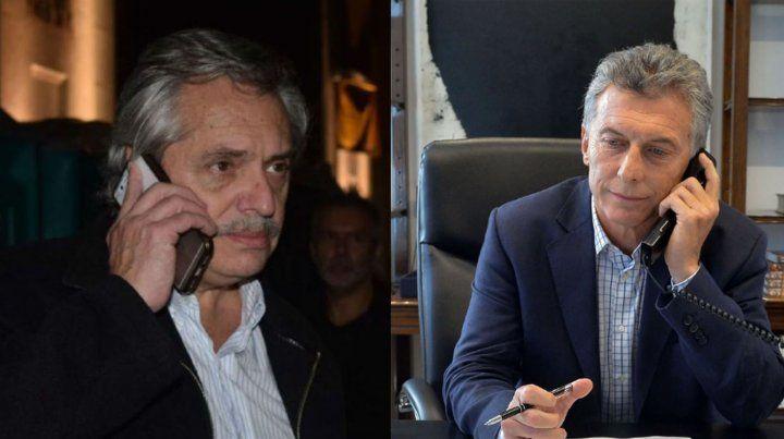 Compromiso de Macri y Alberto Fernández para hablar todas las veces que sea necesario