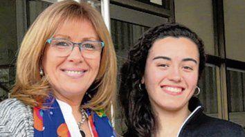 Giaccone y la joven Orellano.