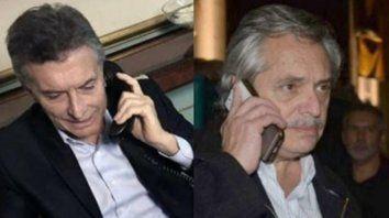 contacto telefónico. Macri y Alberto Fernández hablaron por segunda vez en menos de una semana.