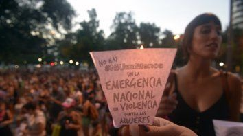 Reclamo. Una de las tantas marchas en las que se exigió un freno a la violencia de género.