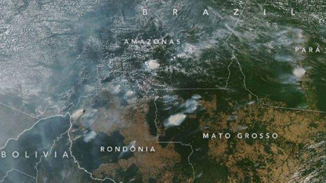La Nasa difunde impactantes imágenes de incendios en el Amazonas