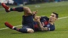 Di María en dos festejos, con el PSG, su club hasta 2021.