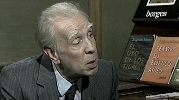 Borges recibió el premio Miguel de Cervantes