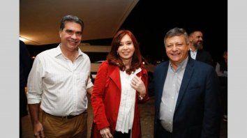 Elecciones. CFK junto a Capitanich y Peppo, en una visita a Chaco.