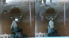 El hombre fue grabado cuando le daba a una paliza a una mujer en el estacionamiento de un boliche.