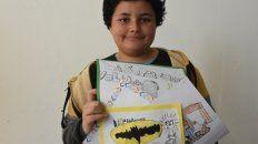 Diego dibuja todo el tiempo, tanto en su casa como en ratos libres en la escuela.