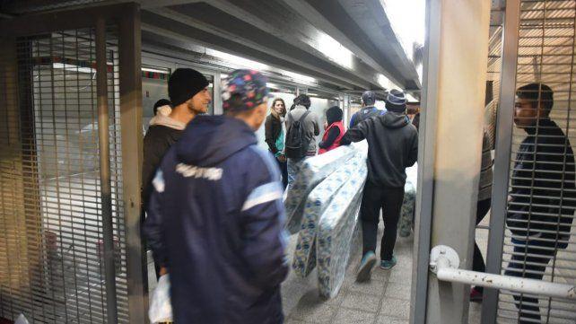 El refugio en Estadio Municipal. Fue cerrado