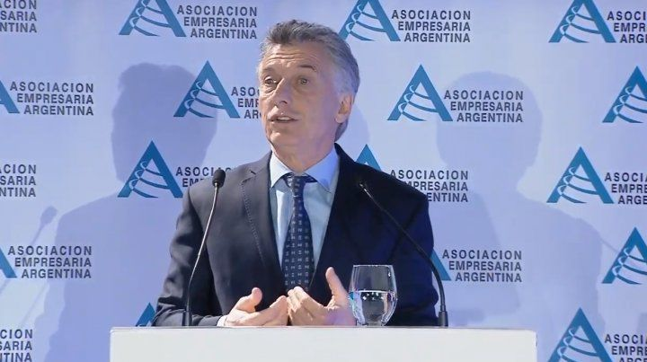 El presidente Mauricio Macri habló hoy en IV jornada de la Asociación Empresaria Argentina.