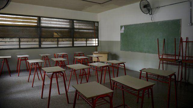 Hoy las aulas estarán vacías en las escuelas públicas.