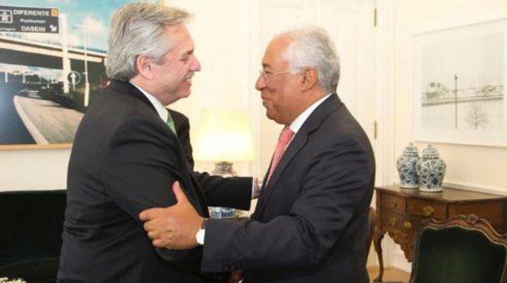 Alberto Fernández se reunió en Portugal con el primer ministro Antonio Costa