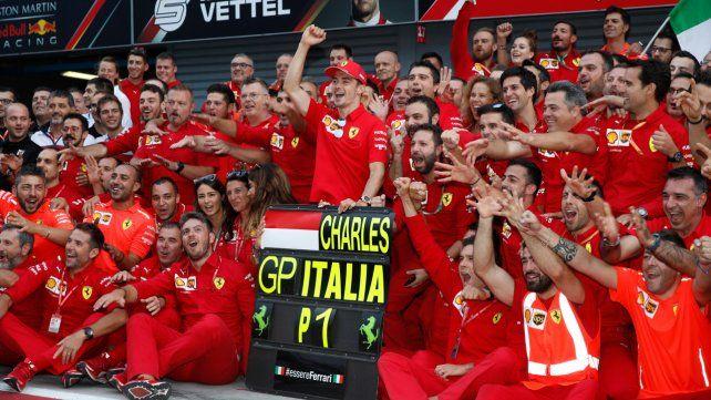 Fórmula Uno: después de nueve años, Ferrari volvió al triunfo en Italia