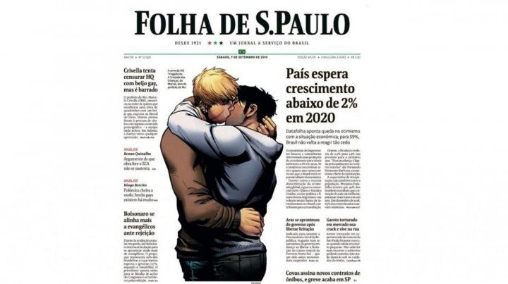 La respuesta del mayor diario de Brasil a la censura de una revista con personajes gay