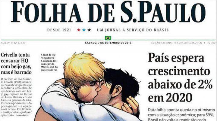 Contra la censura. El diario Folha de Sao Paulo publicó el dibujo.