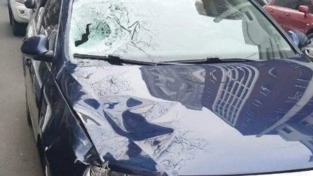 Palermo. El auto azul fue hallado abandonado a unas 12 cuadras.