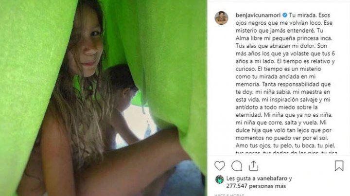 Benjamín Vicuña recordó a su hija Blanca a siete años de su muerte