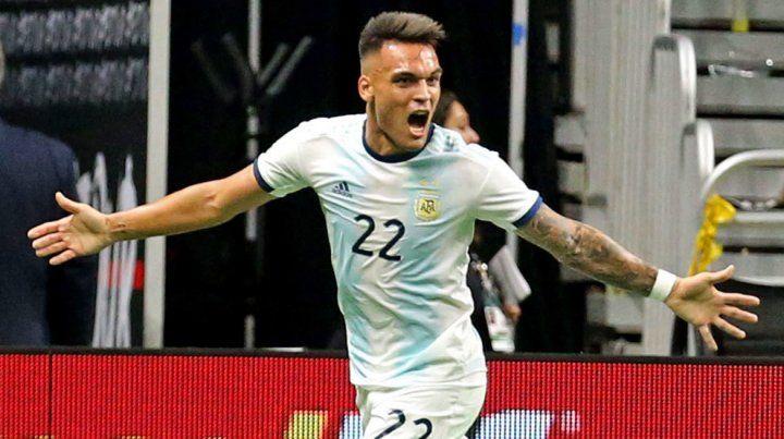 Lautaro Martínez tuvo una gran noche con la camiseta de la Argentina.