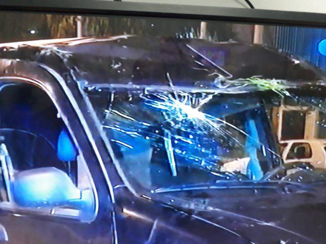 El utilitario volcó en Ovidio Lagos al 7600. (Foto: captura de TV)