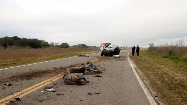Fatal choque entre una pick up y un camión cerca de Humberto Primo