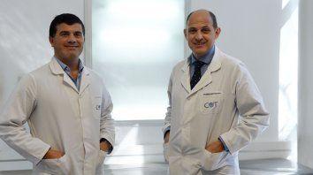 Entusiastas. Los médicos Martín D´Elía y Gabriel Martínez Lotti.