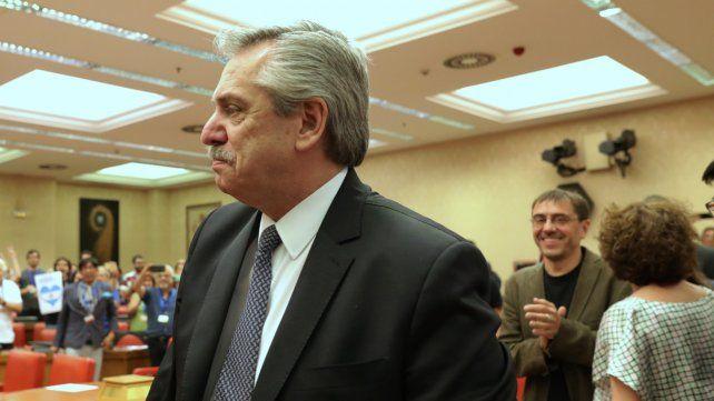 El postulante del FdT cargó contra Macri y sus políticas.
