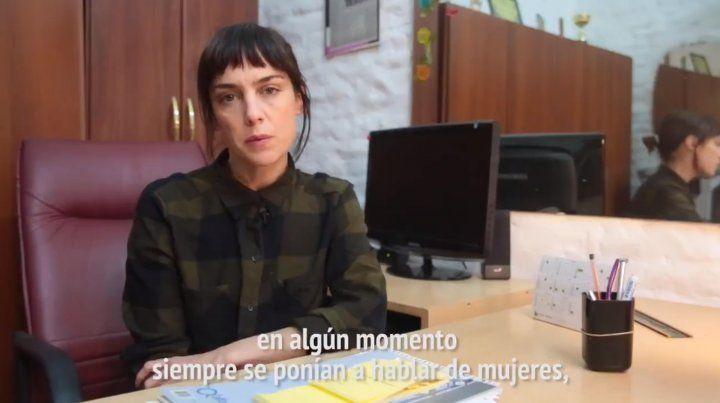 Jazmín Stuart cuenta su experiencia en el video del colectivo de Actrices Argentinas.