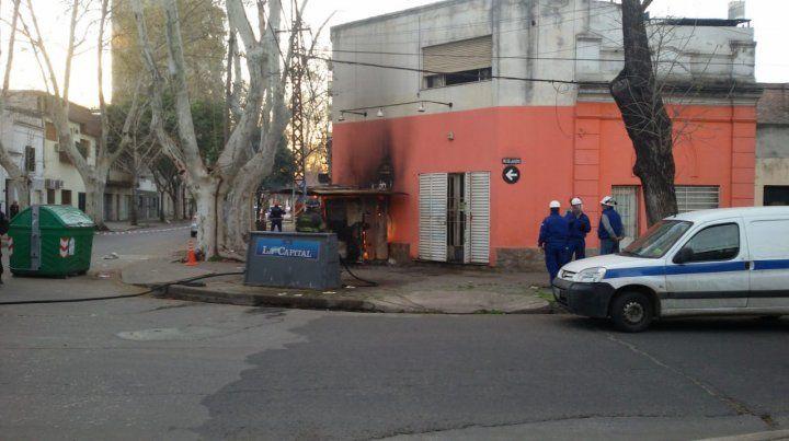 Preocupación al incendiarse un medidor de gas en San Luis y Río de Janeiro.