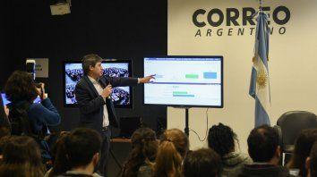 Explicaciones. El nuevo sistema de transmisión de datos fue detallado por Adrián Pérez antes de las Paso.
