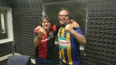 Morelli y Popono se juntaron por el buen fútbol y la música, en los estudios de La Red Rosario