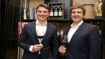 Gustavo Perosio, director general de Moët Hennessy, y Gonzalo Carrasco, enólogo de Terrazas, estuvieron en Rosario.