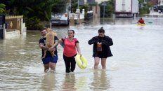 Inundados. Habitantes de Ciudad Real, cerca de Murcia.
